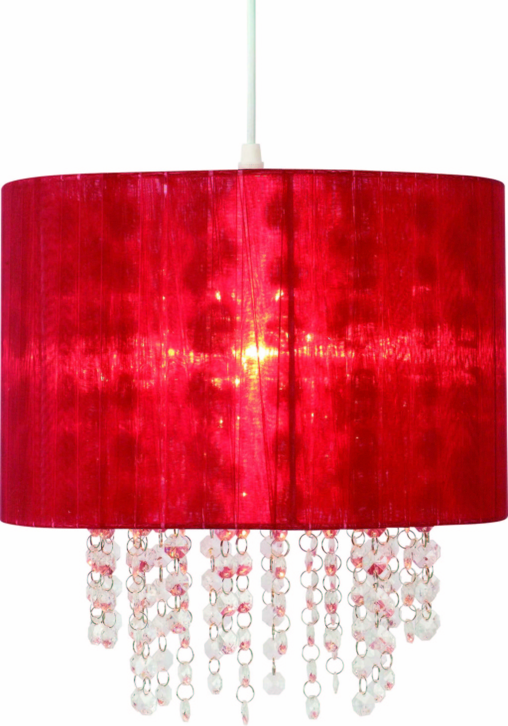 Meridian lighting milano lamp shade red organza shade with clear meridian lighting milano lamp shade red organza aloadofball Choice Image